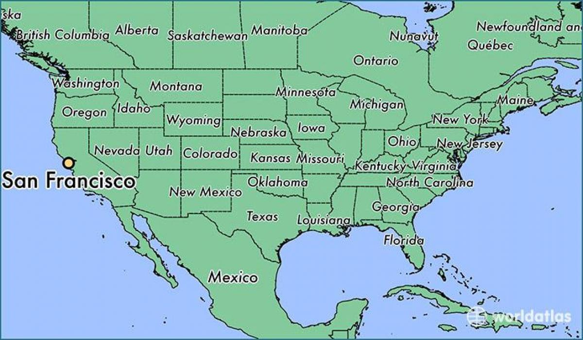 San Fran Pa Kort Kort Over San Fran Pa Californien Usa