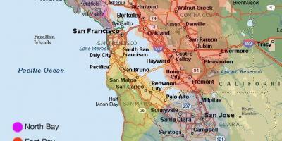 San Francisco Sf Silicon Valley Kort Kort San Francisco Sf